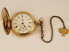 1899 HAMPDEN Victorian 15J Gen'L Stark Gold G.F. Gents Full Hunter Pocket Watch