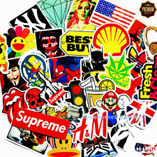 Skateboard 100 Stickers Car Laptop Sticker Decals Dope Luggage Christmas Gifts