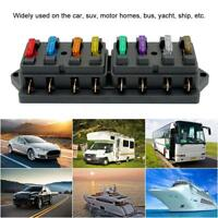 8 WAY FUSE HOLDER BOX CAR VEHICLE CIRCUIT BLADE FUSE BOX BLOCK +8 FREE FUSE Y7U3