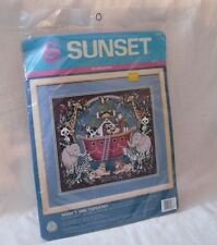 Sunset Noah's Ark Tapestry Needlepoint Kit New Sealed