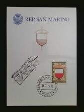 SAN MARINO MK 1974 ARMBRUST-TURNIER WAPPEN MAXIMUMKARTE MAXIMUM CARD MC CM c8488