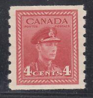 "Canada MINT OG Scott #267  4 cent dark carmine ""KGVI War COIL""  VF"