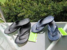 Crocs Kadee Flip-Flops Lightweight Relaxed Fit Sandals Womens Black & Navy