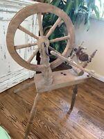 Antique Vintage Primitive Wooden Spinning Wheel