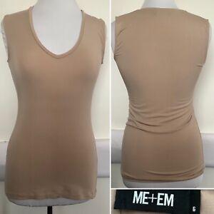 Preloved - Me & Em Flesh Nude Vest Top - Sz 6