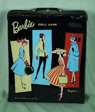 Vintage Barbie Doll Vinyl Carry Case Ponytail 1961 Black Mattel Single Doll