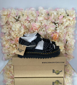 Dr Martens Leather Voss Animal Leopard Print,UK 7, BRAND NEW, Discontinued, RARE