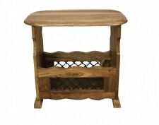 Jali Solid Sheesham Indian Rosewood Magazine Rack / Rosewood Storage Table