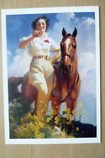 Advertising PostCard- DRINKING COCA COLA A WOMAN WITH HORSE, brand card @1991