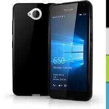 Funda TPU Gel Carcasa para Microsoft Lumia 650 Cubierta Cover + Prot de Pantalla