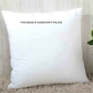 Indian Lightweight Square Cushion Pillow Inserts Polyester Filling White 60x60cm