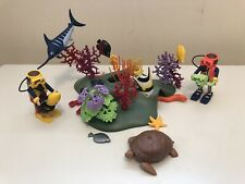 Playmobil Unique Custom Coral Reef Turtle Swordfish Divers Beautiful!