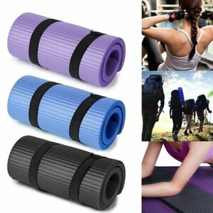 Yoga Mat Thick Non-slip Durable Exercise Extra Mats Pilates Pad Fitness Gym 15mm