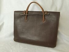 Vintage Music Handheld 100% Leather Music Case Briefcase.
