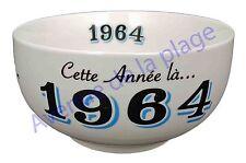Bol année de naissance 1964 en grès - idée cadeau anniversaire neuf