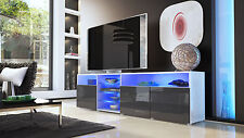 White High Gloss Modern TV Stand Unit Media Entertainment Center