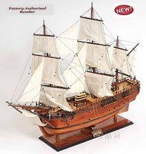 "Hms Bark Endeavour James Cook's Tall Ship 38"" Wood Model Sailboat Assembled"
