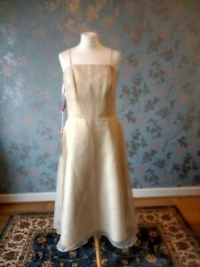 BNWT Emily Fox Wedding Bridesmaid Prom Dress Size 16 Toffee Tulle Tea Length