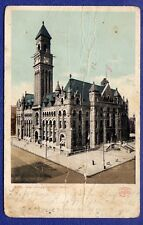 KM088 Vtg RPPC Photo PostCard 6351 P. Office Detroit MI 1907