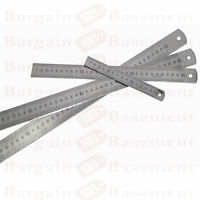 "12"" Stainless Steel Ruler Metal Rule Dual Double Markings Metric & Imperial NEW"