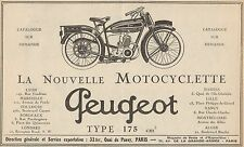 Y7702 Motocyclette PEUGEOT Type 175 cc - Pubblicità d'epoca - 1925 Old advert