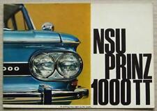 NSU PRINZ 1000 TT Car Sales Brochure c1964