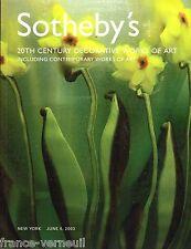 Catalogue Vente Sotheby's Art Deco Nouveau Tiffany Glass Galle Verrerie Lalique