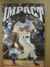 vintage baseball Darryl Straberry MLB poster original Sudden Impact 1991 4661