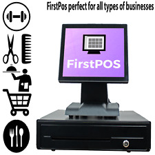 More details for firstpos 12in touch screen epos pos cash register till system money shop