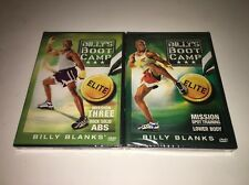 Billy's Bootcamp Elite Brand New Sealed 2 Disc DVD SET Blanks Abs Lower Body
