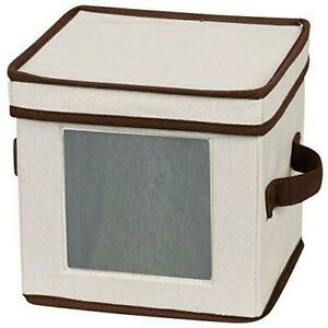 Household Essentials 534 Dinnerware Storage Box with Lid and Handles | Chest for