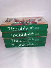 X4 Bubble Lights - Vintage Christmas Glass Lights Tested and Working - 7 Strand