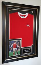 ** NEW Liam Brady Signed Photo and shirt Autograph Display **