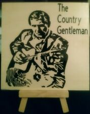 """New listing Past Country Artist Chet Atkins Tile 5""""X5""""X1/4"""" With Display Stand"""