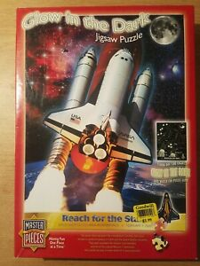 Master Pieces Reach For The Stars 550pc Glow In The Dark Puzzle-Columbia 2003