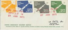 GB 1971 Strike Post Exeter Emergency Delivery Service Moonshot APOLLO 14 VARIETY