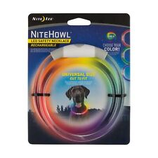Nite Ize NiteHowl LED Safety Necklace Disc-O-Select Rechargeable Collar (4-Pack)