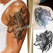 Wolf Head Wasserdichte temporäre abnehmbare Tattoo Body Arm Bein Art Sticker
