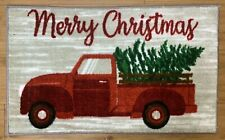 18X30 Christmas Tree Happy Holidays Truck Kitchen Rug Washable Mat Non-Slip