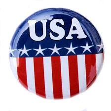 "USA - Fun Novelty Button Pinback Badge 1"" American Flag United States"