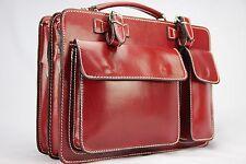 Business- und Laptoptaschen Luxus Aktentasche Weinrot / Kirschrot S
