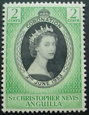 ST CHRISTOPH NEVIS & ANGUILLA 1953: CORONATION OF QUEEN ELIZABETH II;  MNH STAMP