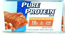 1 Packs Pure Protein 12.06 Oz Peanut Butter Caramel G18g Protein 6 Count Bar