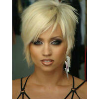 Blonde Bob Wigs for Women Synthetic Short Pixie Cut Wig Light Blonde Hair Wig