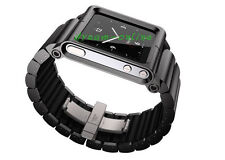 Black LunaTik LYNK Aluminum Watch Band Wrist Strap for iPod Nano 6 6G