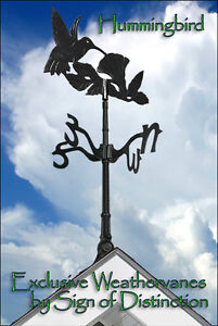 Hummingbird Weathervane Rooftop Weather Vane Ships SAME DAY ONLY from us!