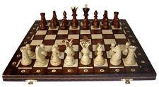 élégant Jeu d'échecs/échiquier en bois 54 x 54 cm travail manuel