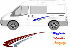VAN, CARAVAN, MOTORHOME, CAMPER,BOAT, DECALS, GRAPHICS, STICKERS, KIT, SET