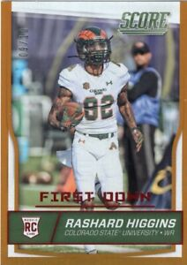 2016 Score First Down Rashard Higgins RC /10 Browns