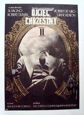GODFATHER Part 2 Polish A1 movie poster COPPOLA PACINO DE NIRO LINEN BACKED